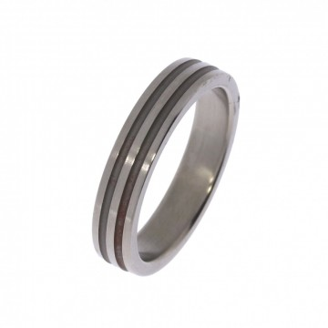 5255500 TITANRING - B:5 MM Ring med lett børstet overflate - 100% allergifri.