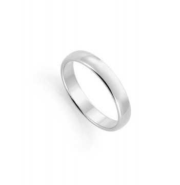 1289804 4 MM HVITT GULL RING - HVELVET / FLAT