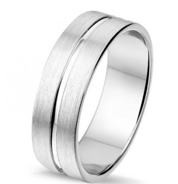 2845402 7 MM CHOICE SØLV RING BØRSTET UTEN DIAMANT