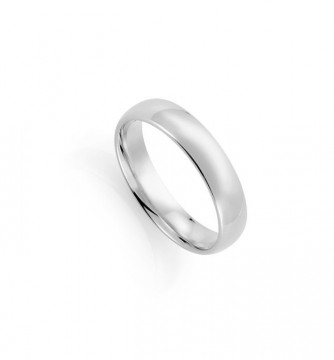 1289905 5 MM HVITT GULL RING - HVELVET / BUET