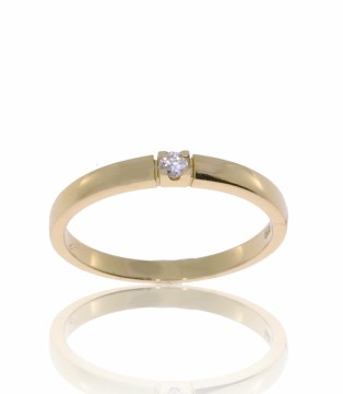 50-00060-1250 RING I GULL MED 0,05 CT TWSi - BREDDE: 2,4 MM