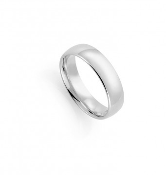 1289906 6 MM HVITT GULL RING - HVELVET / BUET