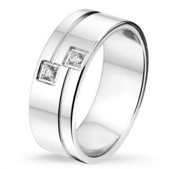 2845301 7 MMCHOICE SØLV RING MED DIAMANTER 0,06CT TWSI