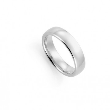 1289206 6 MM HVITT GULL RING - OVAL