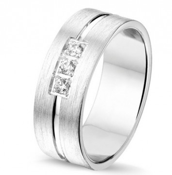 2845401 7 MM CHOICE SØLV RING MED DIAMANTER 0,09CT TWSI
