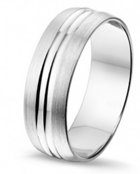 2845102 7 MM - CHOICE SØLV RING BØRSTET UTEN DIAMANT