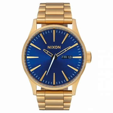 A3562735 NIXON SENTRY SS - ALL GOLD / BLUE SUNRAY - DIAMETER:42 MM