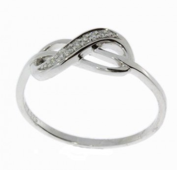GFA10572 HVITT GULL RING M  DIMANTER 0.035 CT W PK