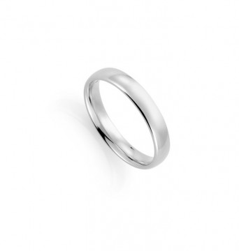 1289904 4 MM HVITT GULL RING - HVELVET / BUET