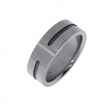6295111 TITANRING - B:8 MM Ring med lett børstet overflate - 100% allergifri.