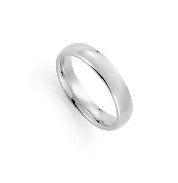 1289205 5 MM HVITT GULL RING - OVAL