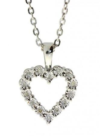 Sølvsmykker m. diamant